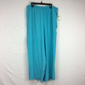 Coldwater Creek Blue Pull On Crinkle Pants